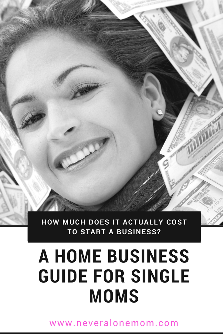 How much does it cost to start a home business? | neveralonemom.com