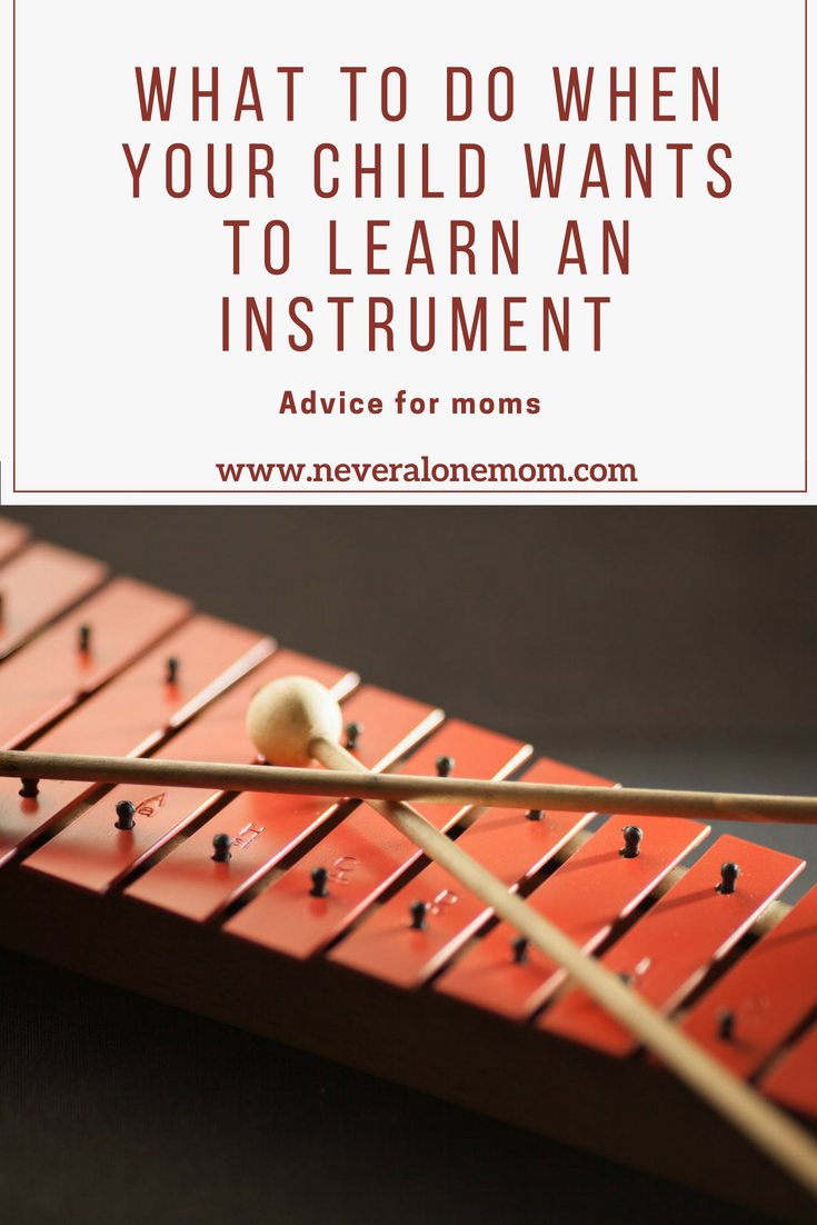 When your child is wanting to learn an instrument, follow these tips! | neveralonemom.com