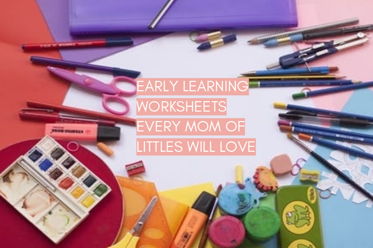 Early learning worksheets for kids! |neveralonemom.com