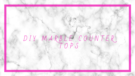 DIY marble counters! |neveralonemom.com